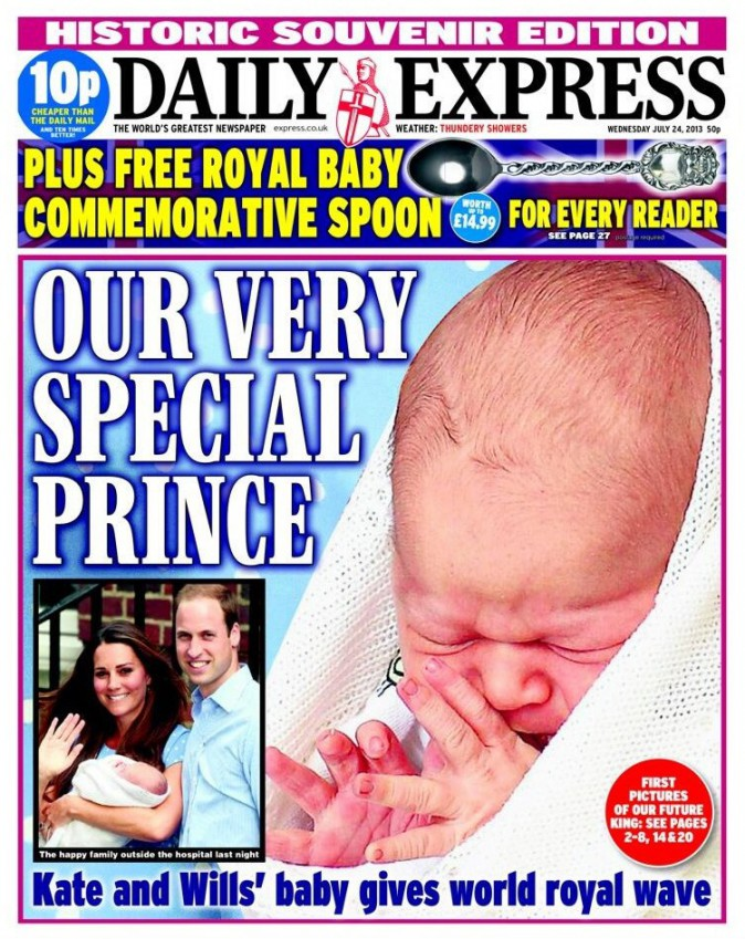 Les Unes de la presse britannique au lendemain de la présentation du Royal Baby
