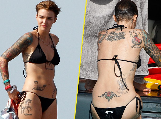 Ruby Rose : la silhouette tatouée de la star d'Orange Is The New Black ne passe pas inaperçue à Ibiza !