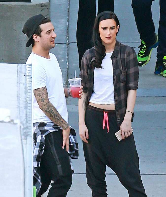 Rumer Willis pendant les répétitions de Dancing with the stars le 16 mars