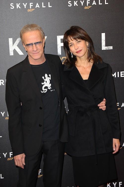 Sophie Marceau et Christophe Lambert à l'avant première de Skyfall en octobre 2012