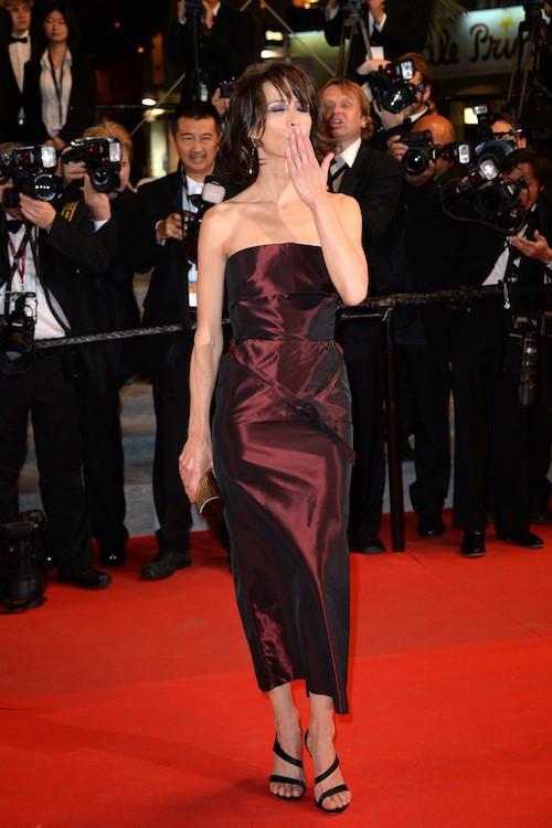 Sophie Marceau seule au festival de Cannes en mai 2014