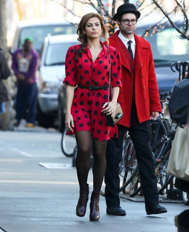 Eva Mendes à New-York le 10 mars 2013