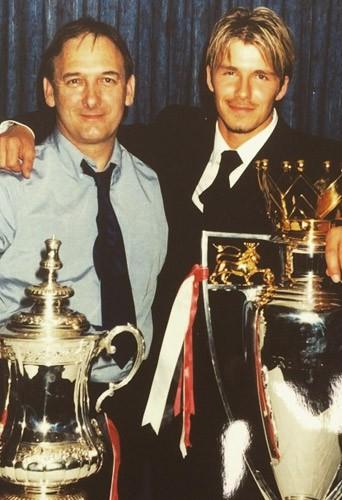 David Beckham et son père