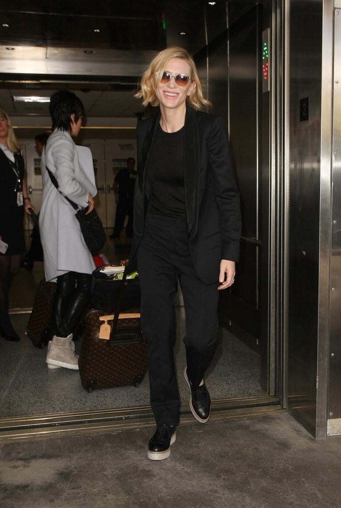 Le total look black comme Cate Blanchett