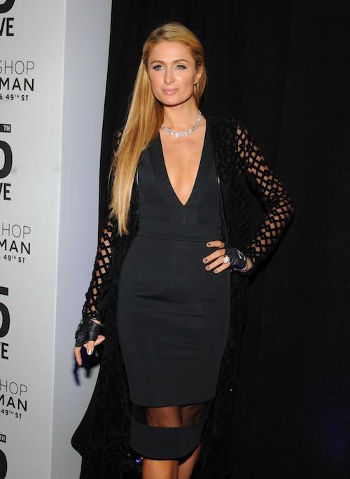 Nicky et Paris Hilton à l'inauguration de la boutique Topshop à New York, le 4 novembre 2014