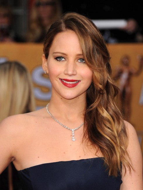 Jennifer Lawrence lors des SAG Awards à Los Angeles, le 27 janvier 2013.