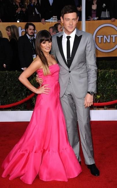 Lea Michele et Cory Monteith lors des SAG Awards à Los Angeles, le 27 janvier 2013.
