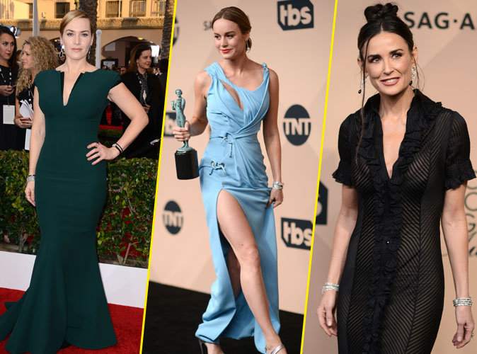 SAG Awards 2016 : Kate Winslet, Brie Larsen, Demi Moore... Beautés éblouissantes sur le red carpet !