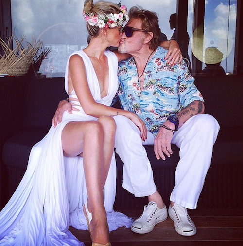 """Laetitia Hallyday : """"All You Need is Love ❤️ Happy Valentine's Day #endlesslove """""""