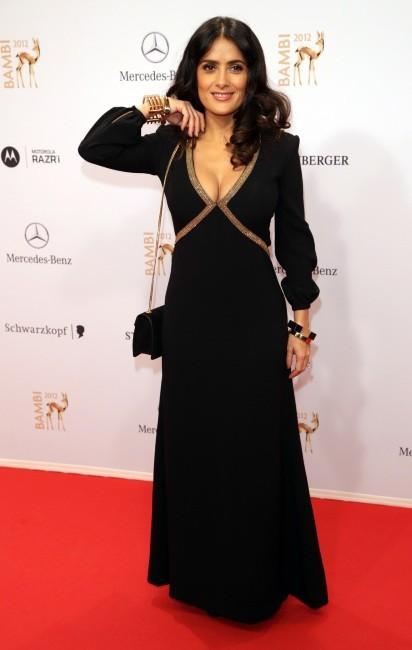 Salma Hayek lors des Bambi Media Awards à Düsseldorf, le 22 novembre 2012.