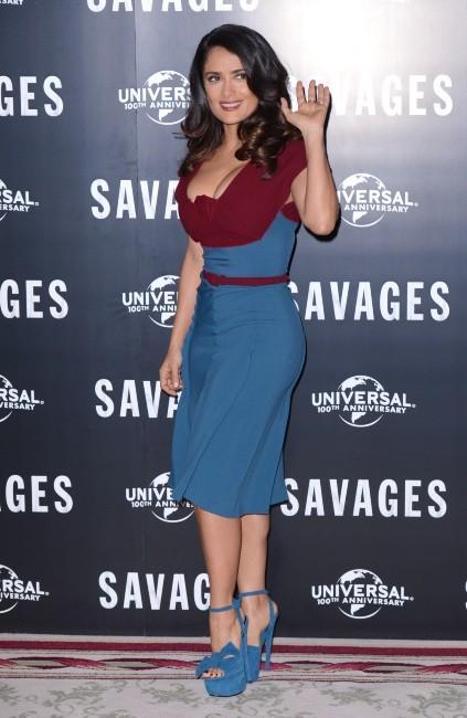 Salma Hayek lors de la première du film Savages à Londres, le 19 septembre 2012.