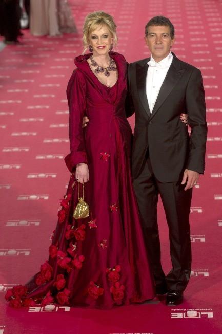 Melanie Griffith et Antonio Banderas lors de la cérémonie des Goya Cinema Awards à Madrid, le 19 février 2012.