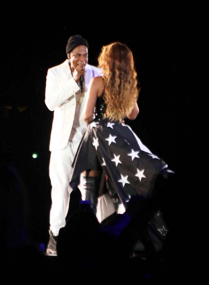 Beyoncé et Jay-Z en concert à Pasadena le 2 août 2014