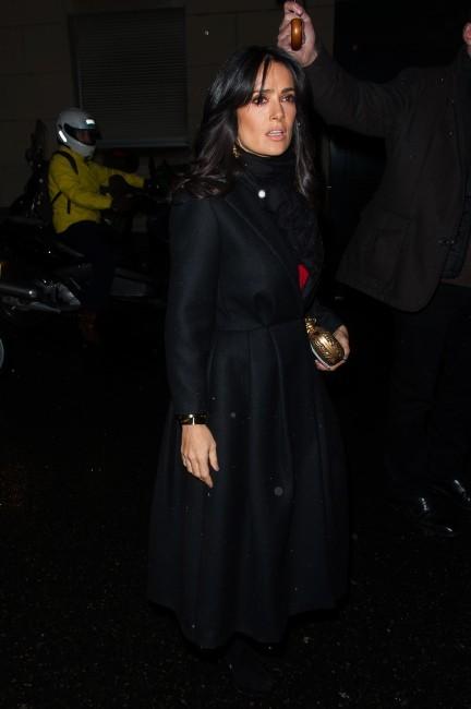 Salma Hayek le 21 janvier 2013 à Paris