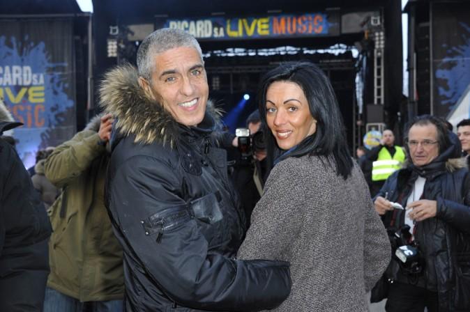 Samy Naceri avec sa compagne Audrey à la Foire du Trône de Paris le 29 mars 2013