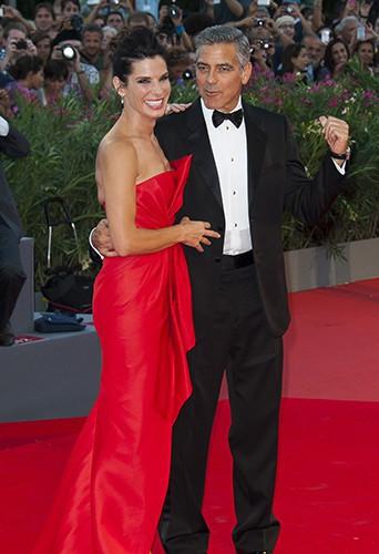 Sandra Bullock et George Clooney à Venise le 28 août 2013