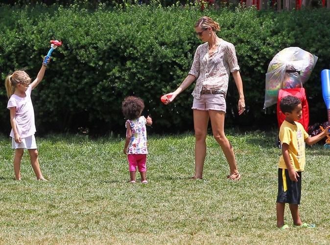 Photos : Heidi Klum est gaga de sa tribu !