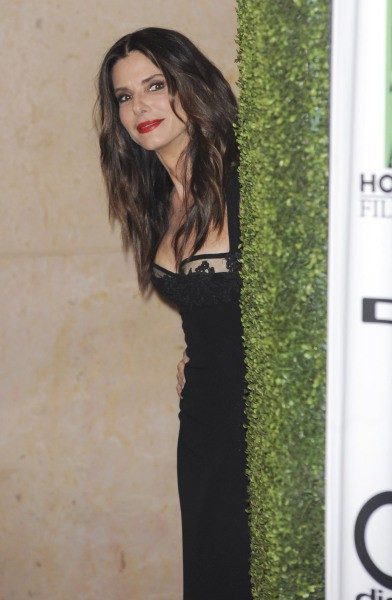 Sandra Bullock lors de la soirée des Hollywood Film Awards à Los Angeles, le 21 octobre 2013.