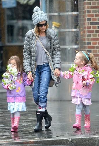 Sarah Jessica Parker et ses jumelles le 12 avril 2013
