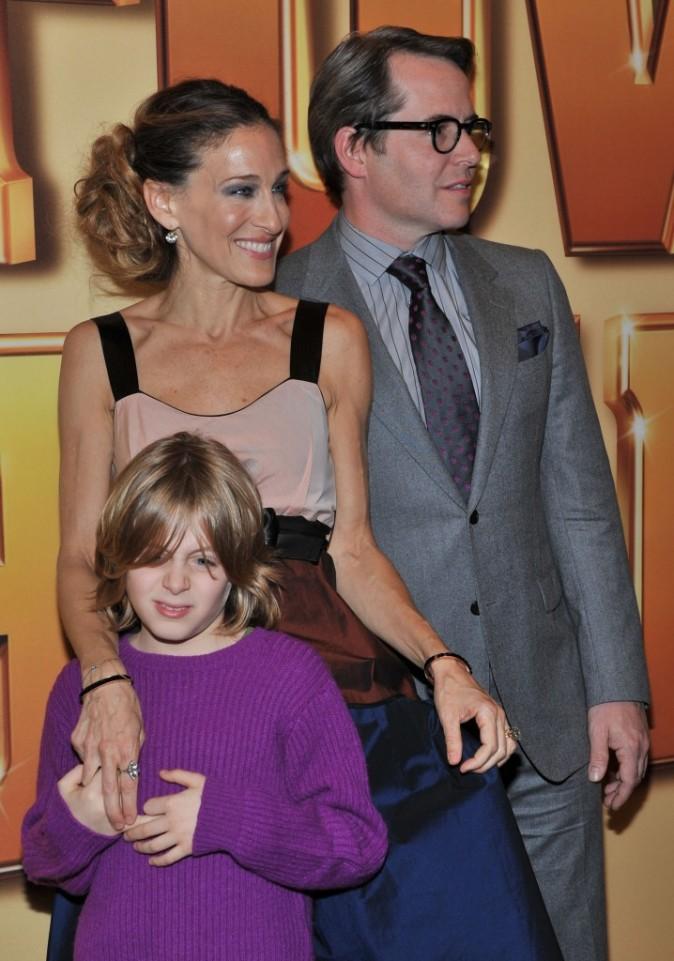 Sarah Jessica Parker en famille lors de la première du film Tower Heist à New York, le 24 octobre 2011.