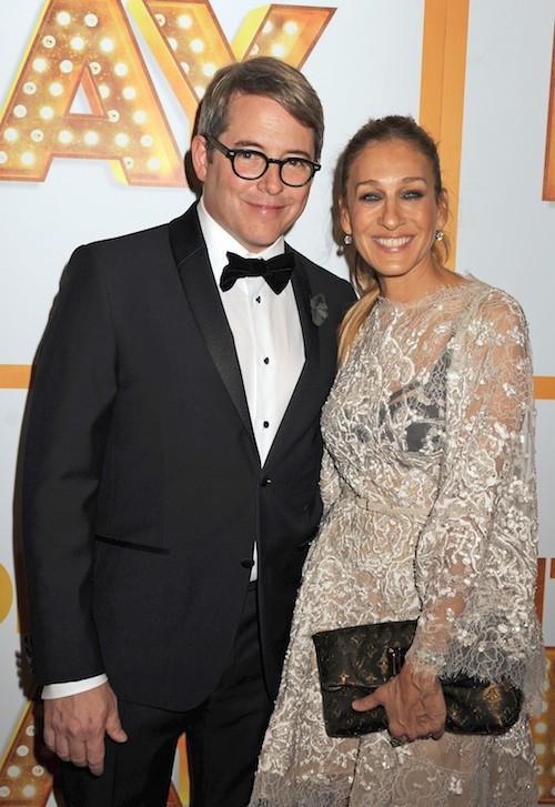 Avec son époux Matthew Broderick en 2014