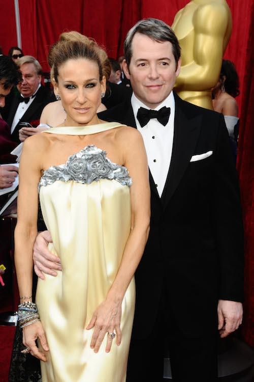 Avec son mari, Matthew Broderick aux Oscars en 2010