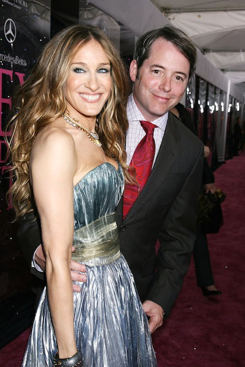 Avec son mari, Matthew Broderick, pour la première de Sex and the City à New York, en 2008