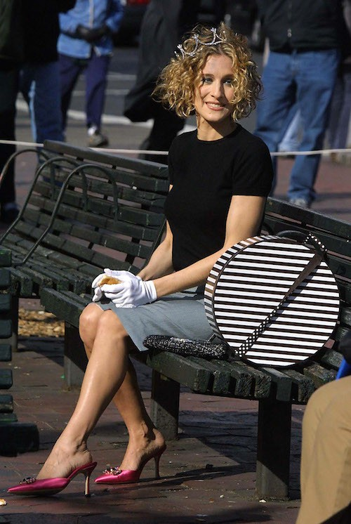 Sur le tournage de la série Sex and the City en 2002