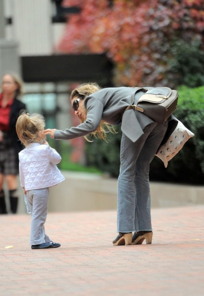 Sarah Jessica Parker et sa fille Tabitha à New York, le 15 novembre 2011.