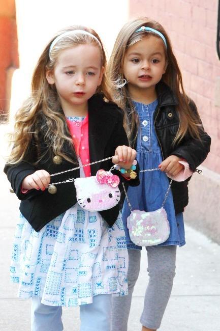 Sarah Jessica Parker et ses filles Marion et Tabitha, New York, 26 avril 2013.