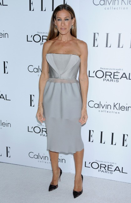 """Sarah Jessica Parker lors de la soirée """"Elle Women in Hollywood"""" à Beverly Hills, le 15 octobre 2012."""