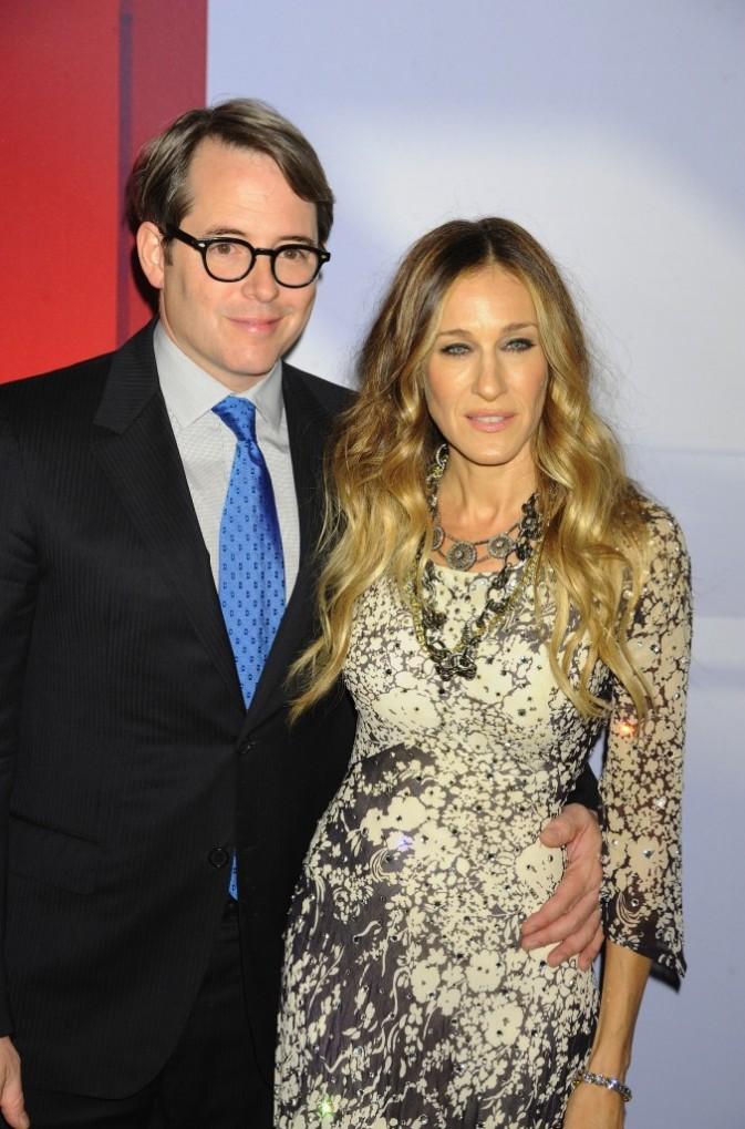 Sarah Jessica Parker et son mari Matthew Broderick lors de la soirée Valentino à New York, le 7 décembre 2011.