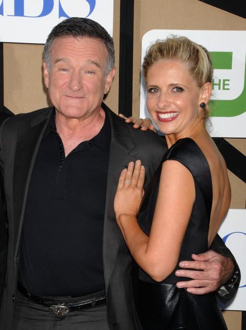 Robin Williams et Sarah Michelle Gellar lors de la soirée CW Summer TCA Party 2013 à Beverly Hills, le 29 juillet 2013.