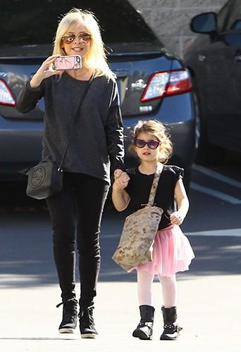 Sarah Michelle Gellar et sa fille Charlotte à Los Angeles le 1er février 2014