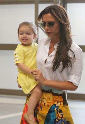 Victoria Beckham et sa fille Harper Seven