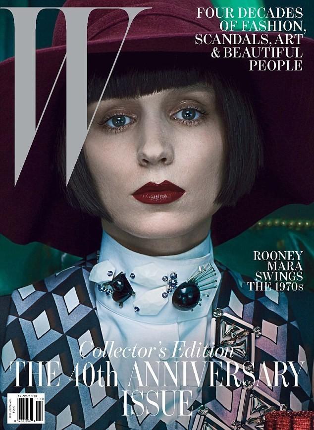 Rooney Mara en couverture de W Magazine du mois de Novembre 2012.