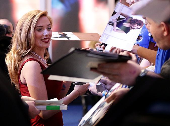 Scarlett Johansson à Londres le 20 mars 2014