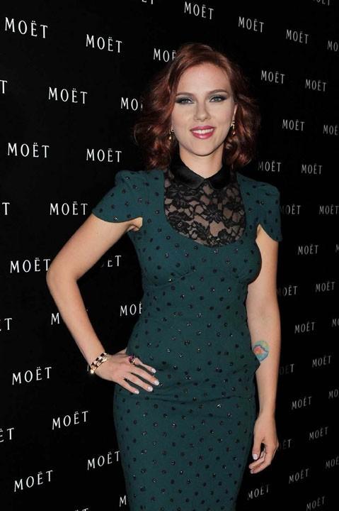 Scarlett Johansson à Shanghaï pour les 270 ans de la marque de champagne Moët & Chandon !