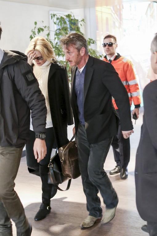 Sean Penn et Charlize Theron à Rome le 15 février 2015