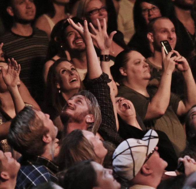 Sean Penn au concert de Madonna le 14 octobre 2015