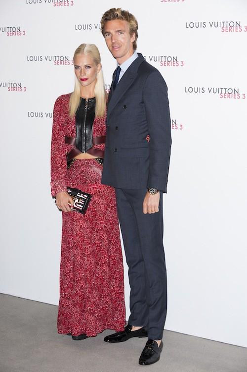 Poppy Delevingne à la soirée Louis Vuitton series 3, à Londres le 20 septembre 2015