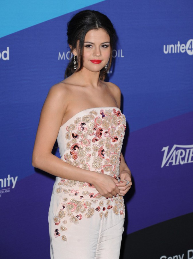 Selena Gomez lors d'un gala à Culver City, le 27 février 2014.