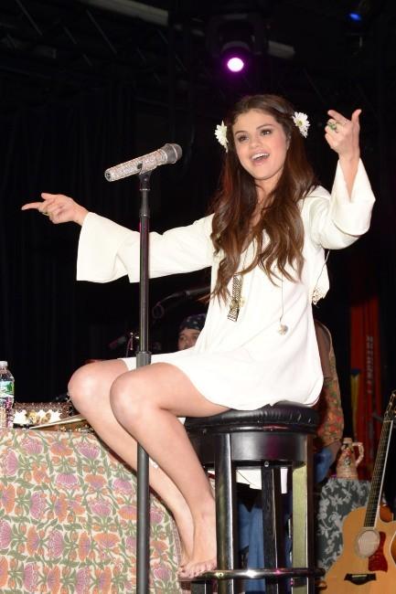 Selena Gomez en concert pour l'UNICEF à New York, le 19 janvier 2013.