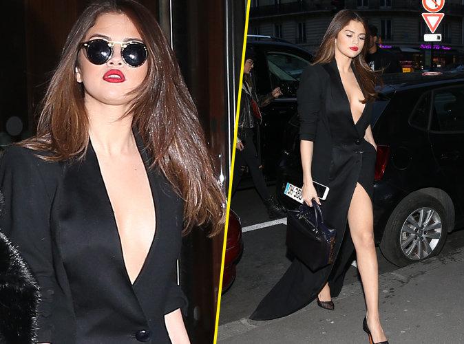 Selena Gomez, toute nue sous son manteau