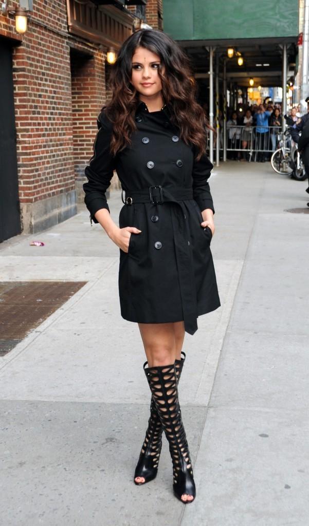 Selena Gomez Trench Coat