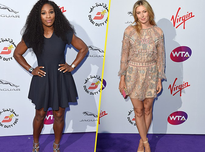 Serena Williams et Maria Sharapova le 25 juin 2015