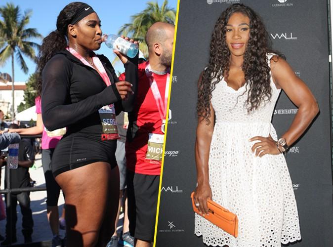 Serena Williams : gros bras et petite robe blanche, impec apr�s avoir transpir� pour la bonne cause !