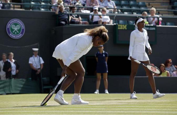 Serena et Venus Williams à Wimbledon le 1er juillet 2014