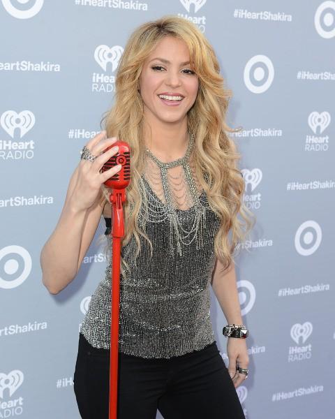 Shakira célèbre son nouvel album éponyme à Burbank, le 24 mars 2014.