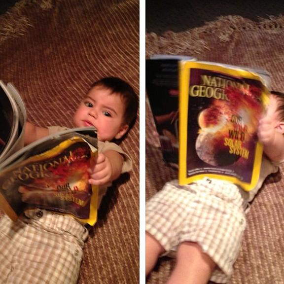 Milan est déjà un fervent lecteur de National Geographic !